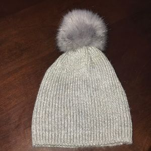 Silver sparkly hat